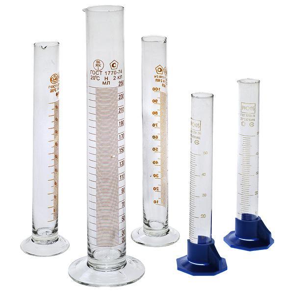 Градуированные мерные цилиндры