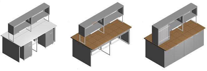 Островные лабораторные столы